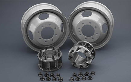 KIT250-front dually adapters and wheels